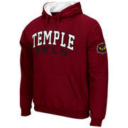 Men's Stadium Athletic Cherry Temple Owls Double Arches Pullover Hoodie