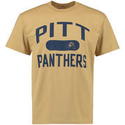Men's Gold Pitt Panthers Athletic Issued T-Shirt