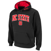 Men's Stadium Athletic Black NC State Wolfpack Arch & Logo Pullover Hoodie