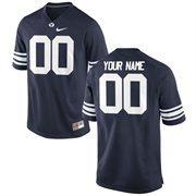 Nike Mens BYU Cougars Custom Replica Football Jersey - Navy
