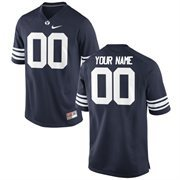 Nike Mens BYU Cougars Custom Replica Football Jersey - Navy