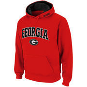 Mens Georgia Bulldogs Red Classic Arch Logo Twill Hoodie