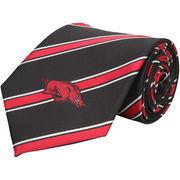 Men's Arkansas Razorbacks Woven Poly Striped Tie