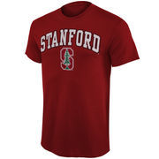 Mens Cardinal Stanford Cardinal Arch Over Logo T-Shirt