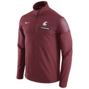 Men's Nike Heathered Crimson Washington State Cougars 2016 Elite Coaches Dri-FIT 1/2 Zip Jacket