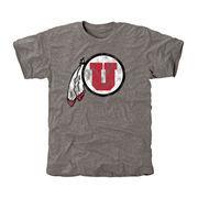 Men's Gray Utah Utes Classic Primary Logo Tri-Blend T-Shirt