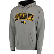 Men's Gray Southern Miss Golden Eagles Eagle Head Arch & Logo Pullover Hoodie