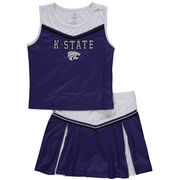 Girls Youth Colosseum Purple Kansas State Wildcats Aerial Cheer Set
