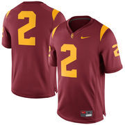 Men's Nike Cardinal USC Trojans #2 Game Football Jersey