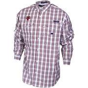 Texas A&M Aggies Columbia Collegiate PFG Super Bonehead Plaid Long Sleeve Shirt - Maroon