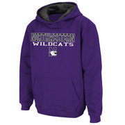 Youth Stadium Athletic Purple Northwestern Wildcats Stack II Hoodie
