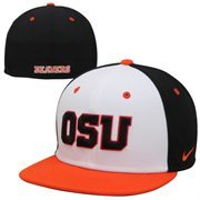 Nike Oregon State Beavers True Colors Authentic Performance Fitted Hat - White/Orange/Black