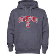 Mens Dark Gray Stanford Cardinal Arch Over Logo Hoodie