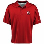 Men's Columbia Red NC State Wolfpack Perfect Cast PFG Polo