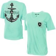 Women's Green UCF Knights Anchor Flourish V-Neck T-Shirt