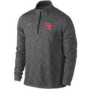 Men's Nike Anthracite Houston Cougars Heathered Element Quarter-Zip Jacket