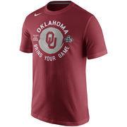 Men's Nike Crimson Oklahoma Sooners 2016 NCAA Men's Basketball Tournament Final Four Bound Locker Room T-Shirt