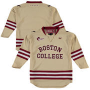 Youth Under Armour Gold Boston College Eagles Replica Hockey Performance Jersey