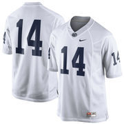 Mens Penn State Nittany Lions Nike White No. 14 Limited Football Jersey