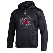 Men's Under Armour Black South Carolina Gamecocks Big Logo Storm Performance Pullover Hoodie