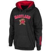 Women's Stadium Athletic Black Maryland Terrapins Arch & Logo Pullover Hoodie