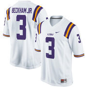 Men's Nike Odell Beckham Jr White LSU Tigers Alumni Football Game Jersey