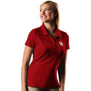 Women's Antigua Red Houston Cougars Pique Xtra-Lite Polo