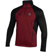 Men's Under Armour Garnet/Black South Carolina Gamecocks Fleece 1/4 Zip Jacket