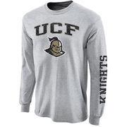 Mens UCF Knights Gray Arch & Logo Long Sleeve T-Shirt