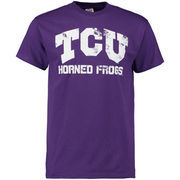 Men's Purple TCU Horned Frogs Straight Out T-Shirt