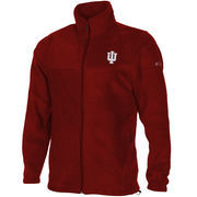 Men's Columbia Crimson Indiana Hoosiers Flanker Full Zip Fleece Jacket