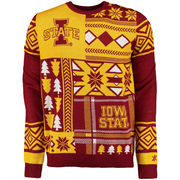 Men's Cardinal Iowa State Cyclones Patches Ugly Sweater