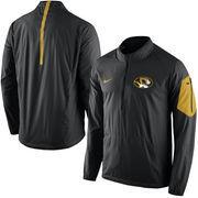 Men's Nike Black Missouri Tigers 2015 Football Coaches Sideline Half-Zip Wind Jacket