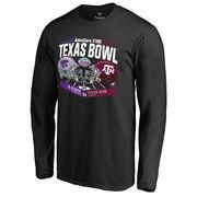 Men's Fanatics Branded Black Kansas State Wildcats vs. Texas A&M Aggies 2016 Texas Bowl Motion Matchup Long Sleeve T-Shirt