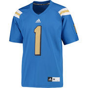 Men's adidas #1 Blue UCLA Bruins Premier Football Jersey