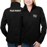 Women's Columbia Black Wake Forest Demon Deacons Give & Go Full-Zip Jacket