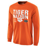 Men's Fanatics Branded Orange Clemson Tigers College Football Playoff 2016 Fiesta Bowl Bound Nation Long Sleeve T-Shirt