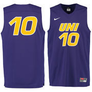 Men's Nike #10 Purple Northern Iowa Panthers Replica Master Jersey