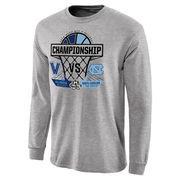 Men's Heathered Gray North Carolina Tar Heels vs. Villanova Wildcats 2016 NCAA Men's Basketball National Championship Matchup Ga
