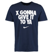 Men's Nike Navy Xavier Musketeers X Gonna Give It To Ya T-Shirt