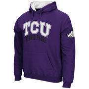 Men's Stadium Athletic Purple TCU Horned Frogs Double Arches Pullover Hoodie