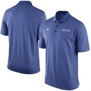 Men's Nike Royal Kentucky Wildcats Stadium Stripe Performance Polo