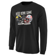 Men's Black Iowa Hawkeyes vs. Stanford Cardinal 2016 Rose Bowl Bound Tackle Dueling Long Sleeve T-Shirt