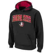 Men's Stadium Athletic Black Florida State Seminoles Arch & Logo Pullover Hoodie
