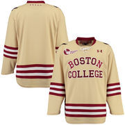 Men's Under Armour Gold Boston College Eagles Replica Hockey Jersey