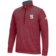 Men's adidas Red NC State Wolfpack Tech Quarter-Zip climawarm Jacket