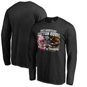Men's Fanatics Branded Black Western Michigan Broncos vs. Wisconsin Badgers 2017 Cotton Bowl Dueling Long Sleeve T-Shirt