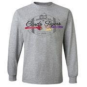 Men's Gray LSU Tigers vs. Louisville Cardinals 2016 Citrus Bowl Dueling Long Sleeve T-Shirt