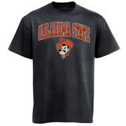 Men's New Agenda Charcoal Oklahoma State Cowboys Arch Over Logo T-Shirt