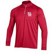 Men's Under Armour Red Houston Cougars 1/4 Zip Long Sleeve Tech T-Shirt